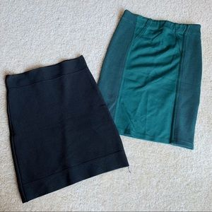 2pc Bundle BCBGMAXAZRIA Bandage Skirt